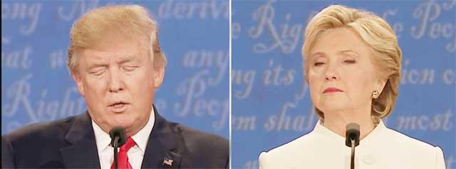 第3回米大統領候補テレビ討論会トランプ氏クリントン氏