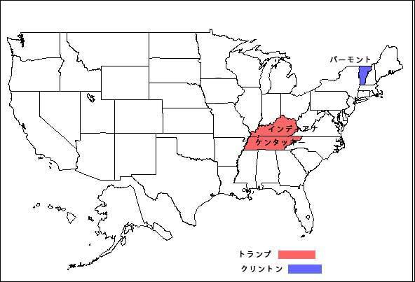米大統領選 州地図