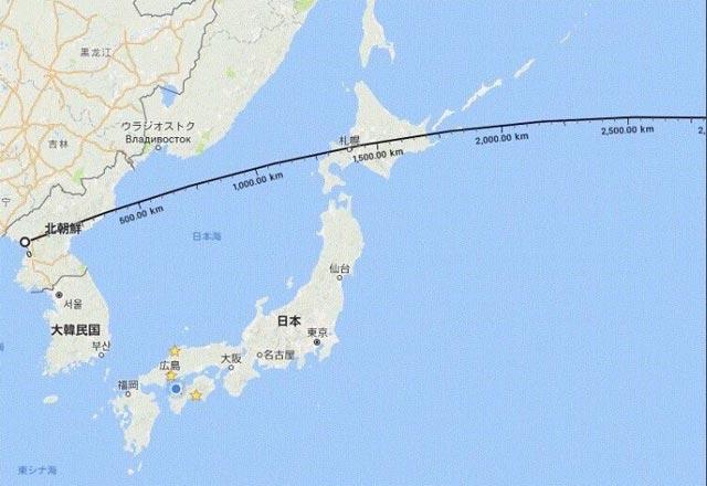 北朝鮮ミサイル着水