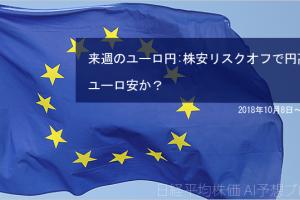 【来週のユーロ円見通し】株安リスクオフで円高ユーロ安か?(2018年10月8日~12日)
