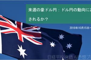 【来週の豪ドル円見通し】ドル円の動向に左右されるか?(2018年10月15日~19日)