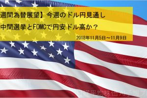 【週間為替展望】今週のドル円見通し 米中間選挙とFOMCで円安ドル高か?(2018年11月5日~11月9日)